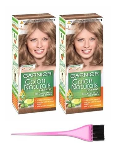 Garnier Garnier 2 Adet Color Naturals Saç Boyası 7 + Boya Fırçası Renksiz